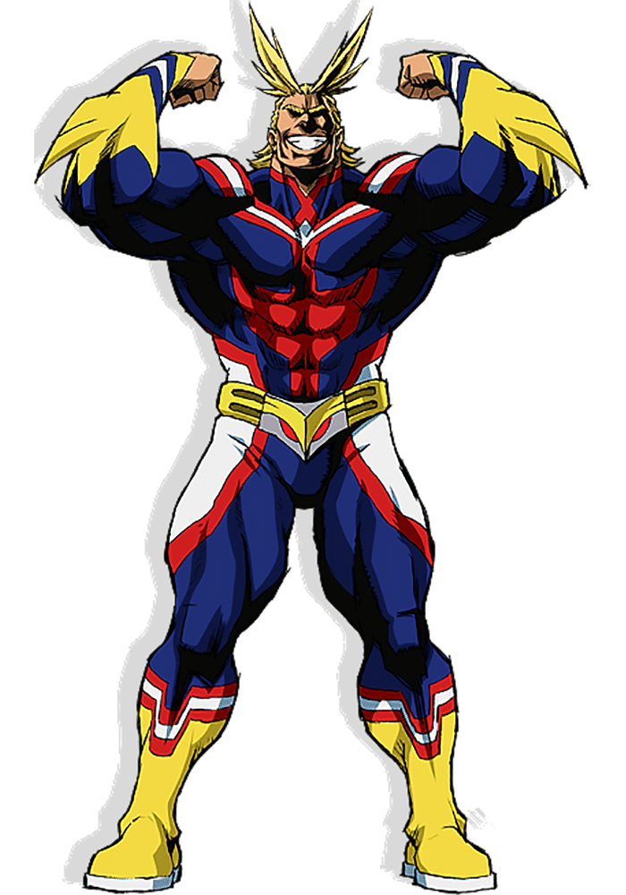 all might super héros manga et anime my hero academia