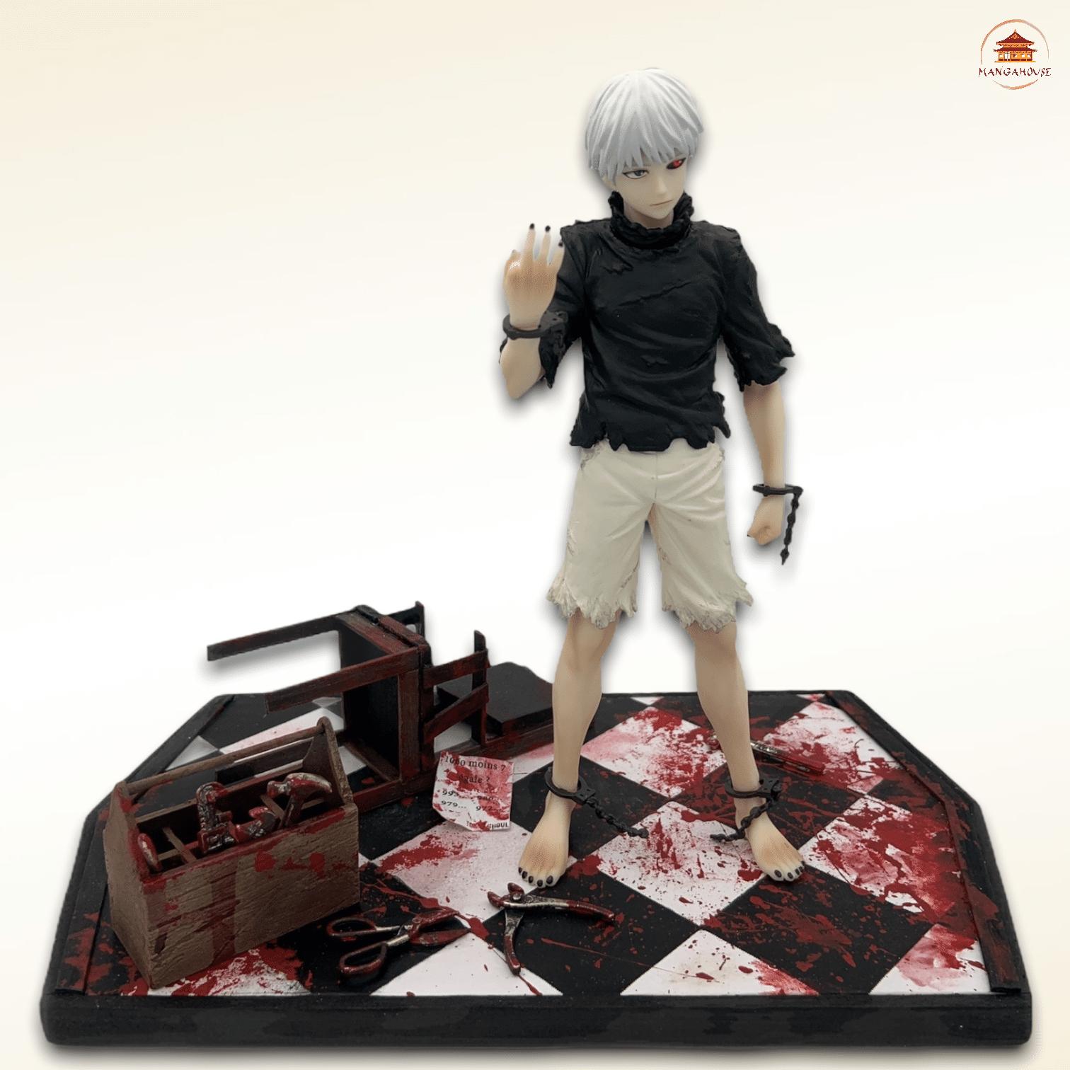 diorama personnalisé pour figurine manga tiré du manga tokyo ghoul pour le personnage kaneki ken la ghoul cache oeil