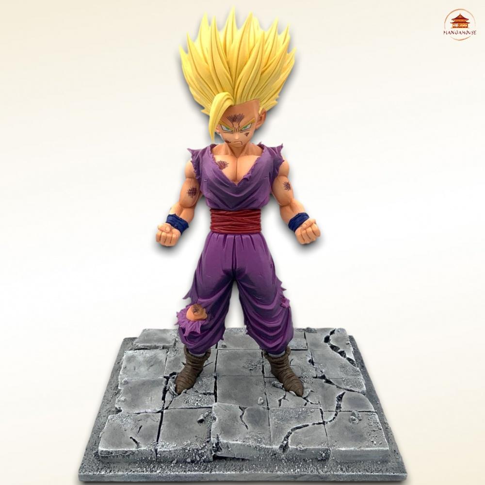 diorama de son gohan sur le cell game dans le manga dragon ball z