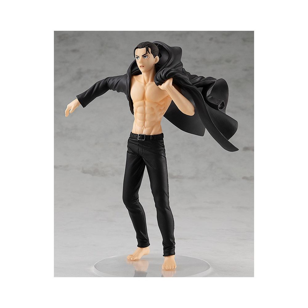 Figurine eren yeager manga attaque des titans remettant sa veste après s'être transformé